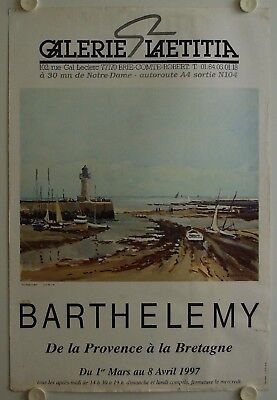 Affiche BARTHELEMY 1997 Exposition Galerie Laetitia