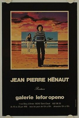 Affiche JEAN PIERRE HENAUT 1976 Exposition Galerie Lefor Openo