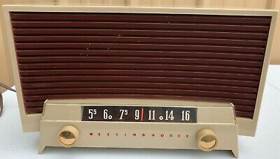 Vintage Westinghouse Mid Century Modern Am Tube Radio Model H 536T6 - Tan - RARE