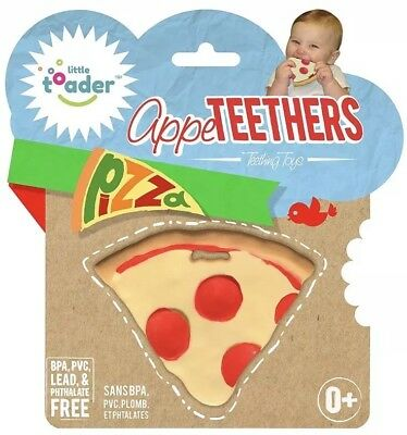 New Appeteether Baby Teether Pizza food kid child toddler No pain fun cute chew