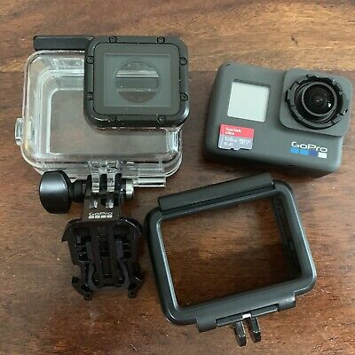 GoPro Hero6 Black Action Camera Camcorder + 128gb Memory Card And Extras