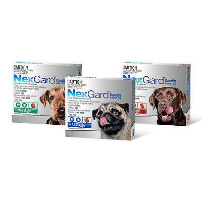 NEXGARD For Dogs: Flea and Tick medication/treatment 6 chews for All sizes