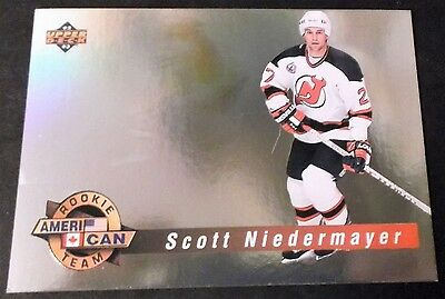 Scott Niedermayer  Devils 1992 U.d. World Rookie Team Hologram Insert Card # Ac5