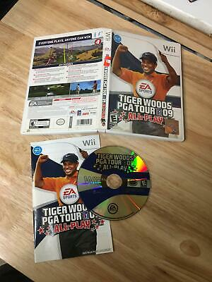 Tiger Woods PGA Tour 09 ALL Play Nintendo Wii Complete In Box