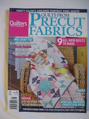 Quilters Companion #5 9 Quilt Patterns From Precut Fabrics Strip Roll Fq Sq Moda