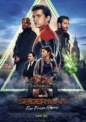 Spider-man Far From Home Intl  Intl E Original Movie Poster Double Sided 27x40