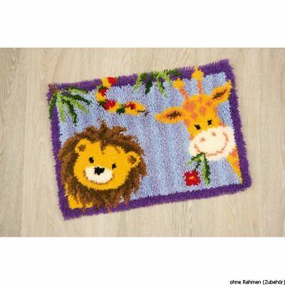 Vervaco Latch hook rug kit Jungle friends, DIY