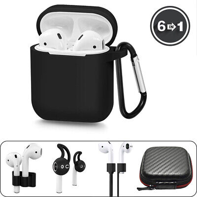AirPods Silicone Case 6-IN-1 Protective Cover Skin For AirPod Charging Case