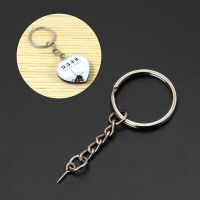 20Pcs Screw Eye Pin Key Chains & Jump Open Ring Chain Extender Jewelry Making