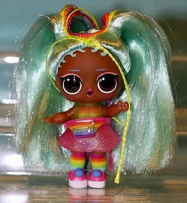 LOL Surprise Doll #HAIRGOALS Makeover Series 5 Wave 2 RAINBOW RAVER🌈 Rare NEW!