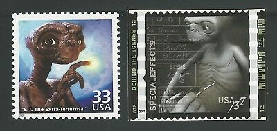 E.T. The Extra-Terrestrial Steven Spielberg 35th Anniversary Movie ET Stamps Set