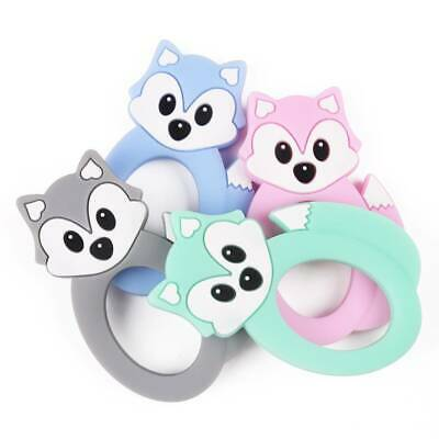 Cartoon Baby Teether Kid Food Grade Silicone Pacifier Soft Teething Chew Toy