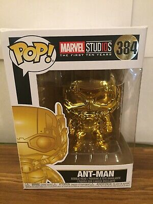 Funko Pop Marvel Studios The First 10 Years Gold Chrome Ant-Man #384