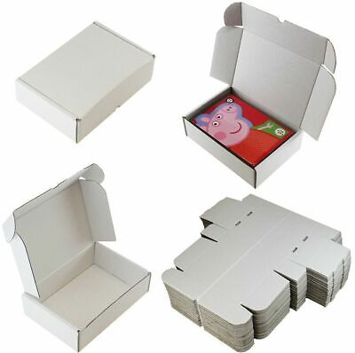 "14 x WHITE SHIPPING BOXES POSTAL GIFT PACKET SMALL PARCEL SIZE: 10"" x 7"" x 3"""