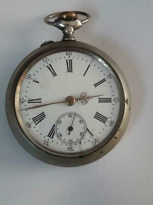 "Vintage Antique "" Brevete - Depose Moeri ""  Pocket Watch Open Face Men's"
