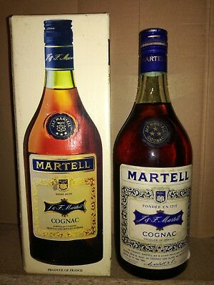 Martell 3 Star   1960s /1970s    0,7L   very rare