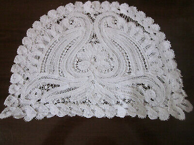 Exquisite Hand Worked Pure White Batternberg Lace Pot Cover