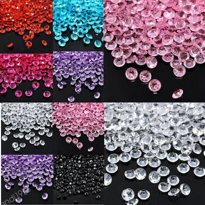 1000Pcs Clear Acrylic Beads Vase Filler Wedding Party Decoration DIY Ornament SS