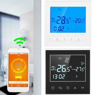 Home Programmable Smart Wifi Wireless Digital Thermostat LCD Touch App Control