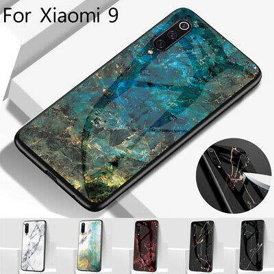 Marble Pattern Tempered Glass Back Case Cover For Xiaomi Mi 9 SE 8 Redmi Note 7