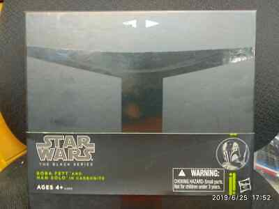 Star Wars Sdcc 2013 Black Series - Boba Fett & Han Solo In Carbonite