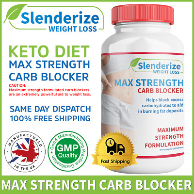 STRONG KETO Weight Loss Pills - Ketogenic Diet Carb Blockers - 2 week supply