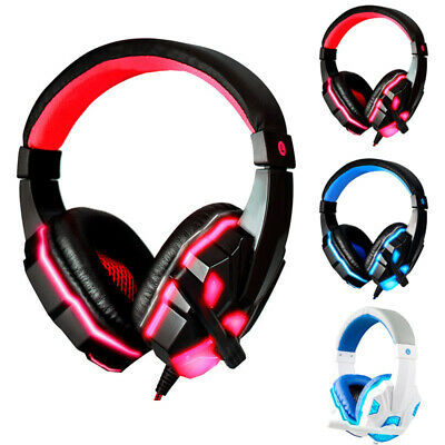 3.5mm Gaming Headset Mic Headphones Stereo Surround For PS3/PS4 Xbox ONE 360 PC