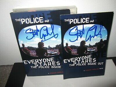 Stewart Copeland Signed Everyone Stares The Police Dvd Movie Sting Two Items