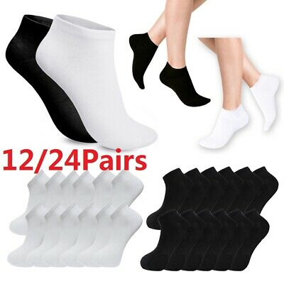 12/24Pair Men's Trainer Liner Socks Invisible Ankle Sock Comfort Cotton Footwear