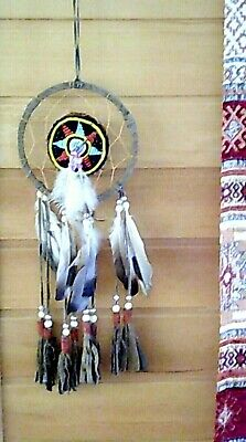 Dream Catcher Native American 38 x 12 cm Feather Faux Leather Beaded Gift
