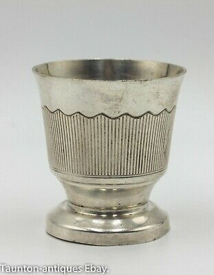 French solid silver Art Deco egg cup by Stephane Prudhomme of Paris circa 1930