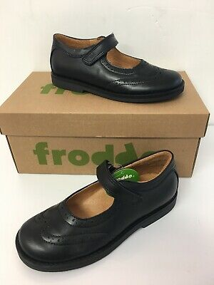 Froddo Girls Leather School Shoe with Brogue Detail ( G314006-6)