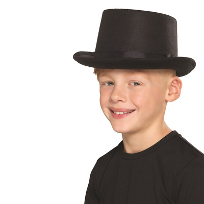 Childs Unisex Top Hat Kids Childrens Fancy Dress Topper Hat Brown by Smiffys
