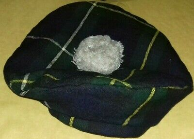 Cappello Basco Scozzese Tam O'shanter Cap Originale Scozia Made Scotland Vintage