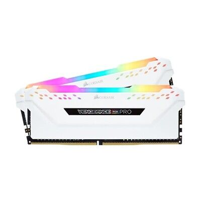 Corsair Vengeance RGB PRO 16GB (2x8GB) DDR4 3200MHz C16 Gaming Memory White