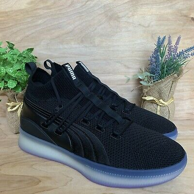 the latest 2b521 2d4a2 PUMA CLYDE COURT Disrupt Men's Black Basketball Shoes Sneakers Purple 11.5