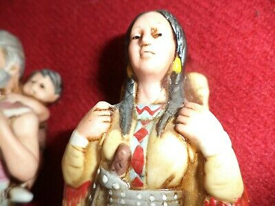LOT OF 2 - 1876 Native Amer. Woman w/Papoose & 1976 era Hiker LIQUOR DECANTERS