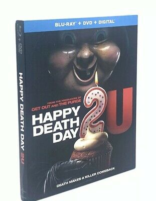 Happy Death Day 2 U (Blu-ray+DVD+Digital, 2019) NEW w/ Slipcover