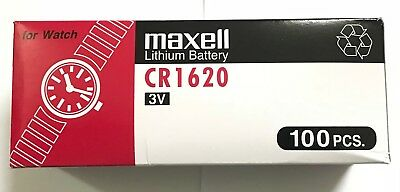 5 pcs Maxell CR1620 Battery  (FREE SHIPPING WORLDWIDE) EXP DATE:2027