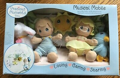 2006 PRECIOUS MOMENTS BABY Musical Mobile Nursery Crib Pastel~NEW