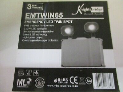 knightsbridge EMTWIN65 Emergency LED Twin Spot Light #Y211