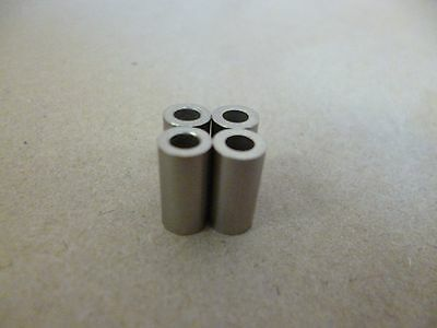 """1/8"""" ID x 1/4"""" OD x 1/2"""" TALL STAINLESS STEEL STANDOFF BUSHING SPACERS 4pc."""