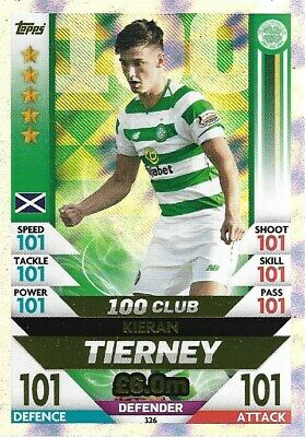 Match Attax Spfl 2018/19 Hundred 100 Club Kieran Tierney Celtic