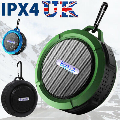 Portable Bluetooth USB TF SD Outdoor Camp Speaker Waterproof and Rechargeable UK