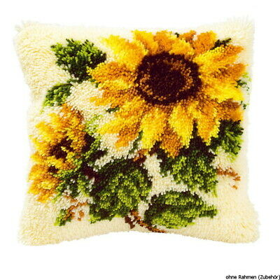 Vervaco Latch hook kit cushion Sunflowers, DIY