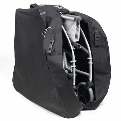 Black Wheelchair Bag Cover Protector for Travelling & Storage