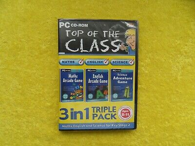* new & sealed * TOP OF THE CLASS 3 in 1 triple pack - PC cd rom disc