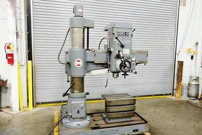 Ikeda Heavy Duty 3' Radial Arm Drill Metal Drill Drilling RMS-9