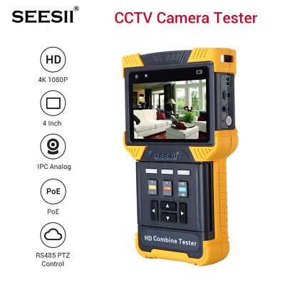 """DT-T70 1080P IPC Camera Tester Combine Test Security Monitor 4"""" AC100-240V TDR"""