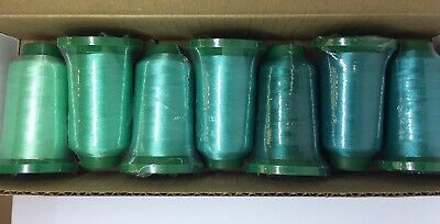 Exquisite Polyester Embroidery Thread 7 SHADES OF AQUA-TURQUOISE